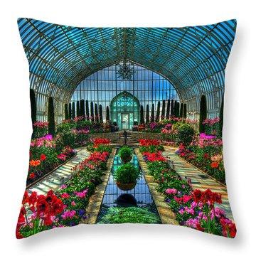 Sunken Garden Como Conservatory Throw Pillow by Amanda Stadther