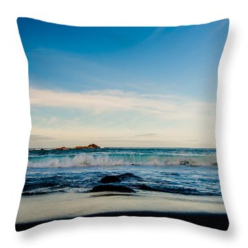 Sunlight On Beach Throw Pillow