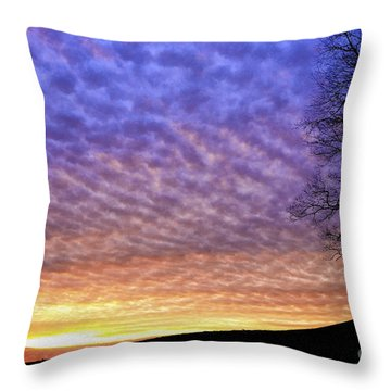 Sunrise Drama Throw Pillow by Thomas R Fletcher