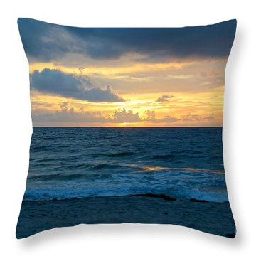 Sunrise In Deerfield Beach Throw Pillow