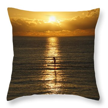 Sunrise In Florida Riviera Throw Pillow