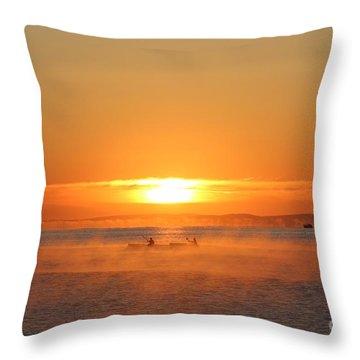 Sunrise Throw Pillow by Katy Mei