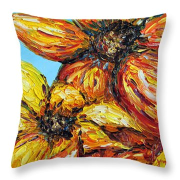 Throw Pillow featuring the painting Sunrise by Meaghan Troup