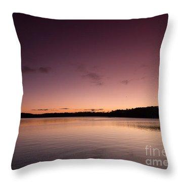 Sunrise On Lake Lanier Throw Pillow