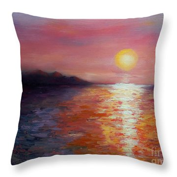 Sunset In Ixtapa Throw Pillow