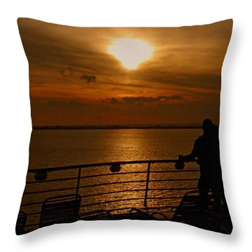Sunset In Paradise Throw Pillow by Gary Wonning