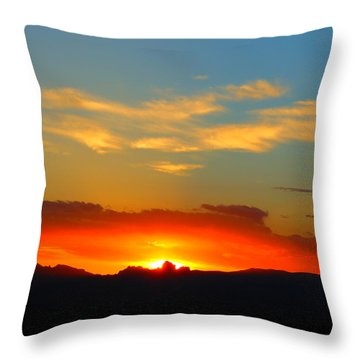 Sunset In The Desert Throw Pillow