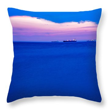 Sunset Over Trieste Bay Throw Pillow