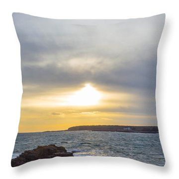 Throw Pillow featuring the photograph Sunset Schoodic Peninsula by Trace Kittrell
