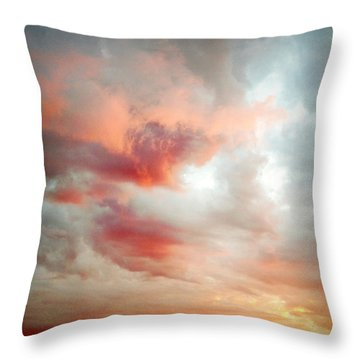Sunset Sky Throw Pillow by Les Cunliffe