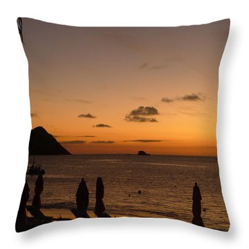 Sunset - St. Lucia Throw Pillow