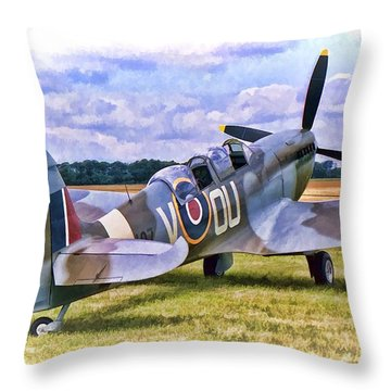 Supermarine Spitfire T9 Throw Pillow