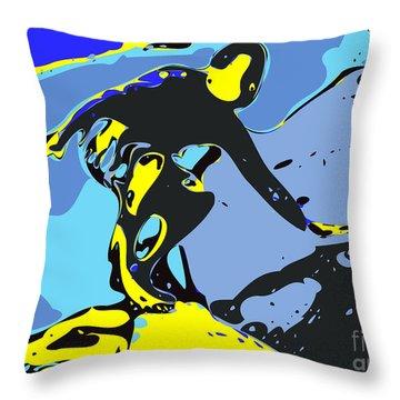 Surfer Throw Pillow by Chris Butler