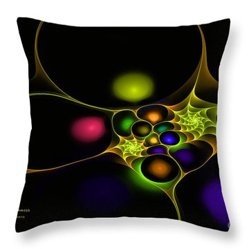Surreal Fractal Throw Pillow