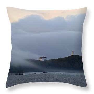 Swallowtail Lighthouse... Throw Pillow by Nina Stavlund