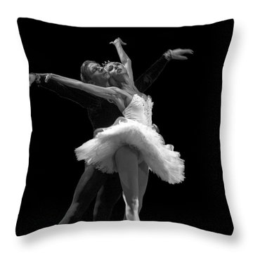 Swan Lake  White Adagio  Russia 3 Throw Pillow