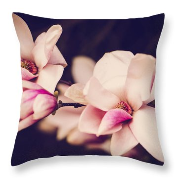 Sweet Magnolia Throw Pillow by Sara Frank