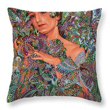 Symbiosis Throw Pillow by Erika Pochybova