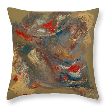 Throw Pillow featuring the painting Syncopation 2 by Mini Arora