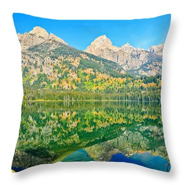 Taggart Lake Throw Pillow by Greg Norrell