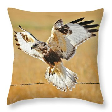 Taking Flight Throw Pillow by Greg Norrell