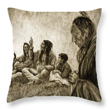 Tales Passed On Throw Pillow
