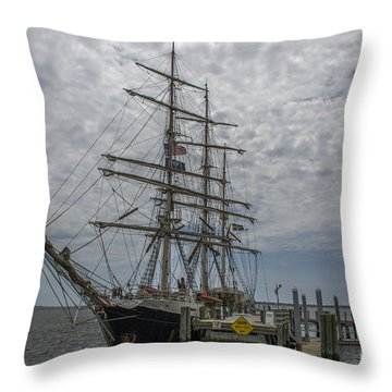 Throw Pillow featuring the photograph Tall Ship Gunilla by Dale Powell