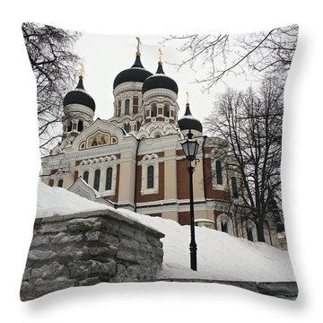 Tallinn Estonia Throw Pillow