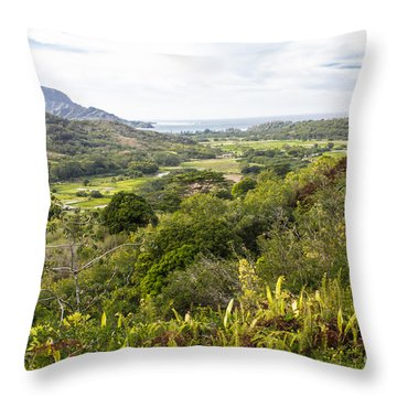 Throw Pillow featuring the photograph Taro Fields by Suzanne Luft