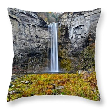 Taughannock Falls Throw Pillow by Frozen in Time Fine Art Photography