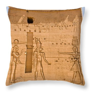 Temple Wall Art Throw Pillow