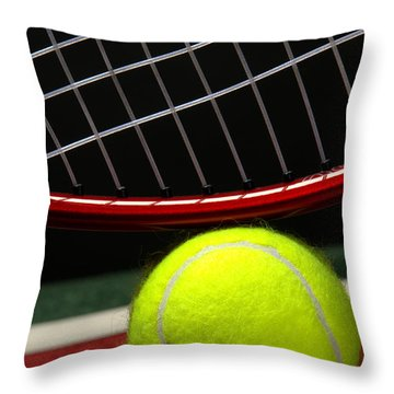 Tennis Ball Throw Pillow by Olivier Le Queinec