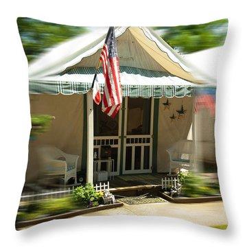 Tent City Throw Pillow