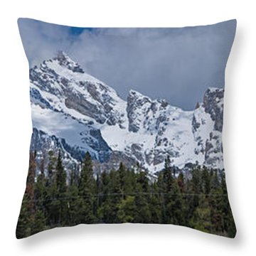 Large Tetons Panorama Throw Pillow