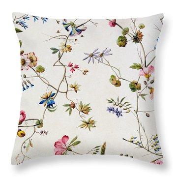 Textile Design Throw Pillow by William Kilburn