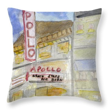 The Apollo Theatre Throw Pillow