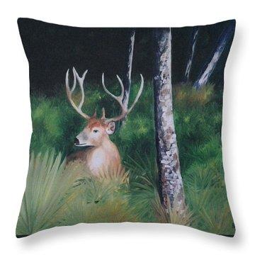 The Buck Throw Pillow