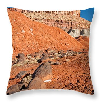 The Castle Capitol Reef National Park Throw Pillow
