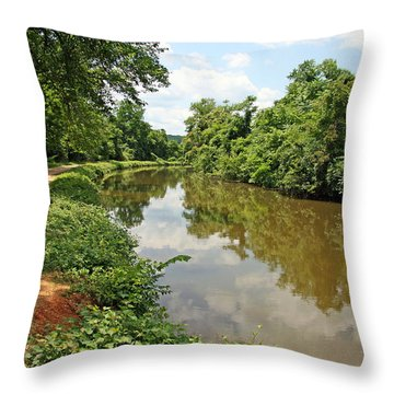 The Chesapeake And Ohio Canal Throw Pillow by Cora Wandel