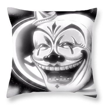The Clown Wasn't Funny Throw Pillow by Newel Hunter