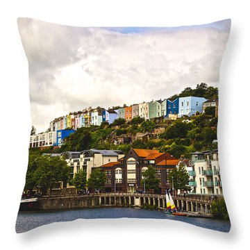 The Colour Of Bristol Throw Pillow by David Warrington