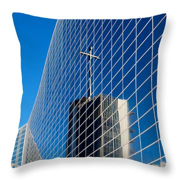 Throw Pillow featuring the photograph The Crystal Cathedral by Duncan Selby