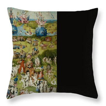 The Garden Of Earthly Delights Throw Pillow