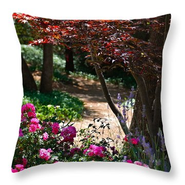 The Garden Path Throw Pillow by Michele Myers