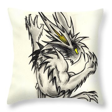 Throw Pillow featuring the drawing The Gargunny by Shawn Dall