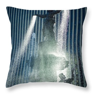The Genius Of Water  Throw Pillow