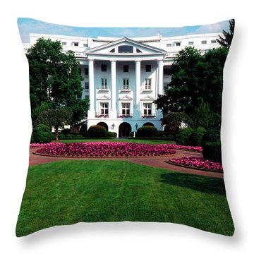 The Greenbrier Throw Pillow by Thomas R Fletcher