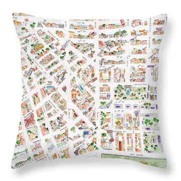 The Greenwich Village Map Throw Pillow
