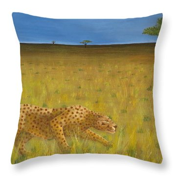 The Hunt Throw Pillow by Tim Townsend