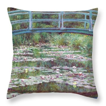 The Japanese Footbridge Throw Pillow